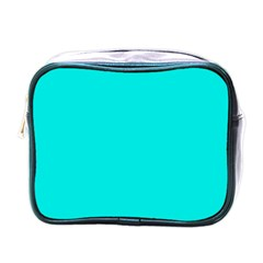 Neon Color   Vivid Cyan Mini Toiletries Bags by tarastyle