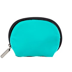 Neon Color   Vivid Cyan Accessory Pouches (small)  by tarastyle