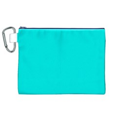 Neon Color   Vivid Cyan Canvas Cosmetic Bag (xl) by tarastyle