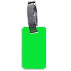 Neon Color   Vivid Malachite Green Luggage Tags (two Sides) by tarastyle