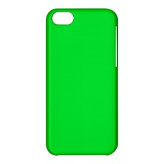 Neon Color   Vivid Malachite Green Apple Iphone 5c Hardshell Case by tarastyle