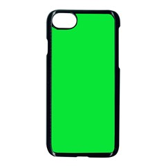 Neon Color   Vivid Malachite Green Apple Iphone 7 Seamless Case (black) by tarastyle