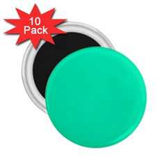 Neon Color   Vivid Turquoise 2 25  Magnets (10 Pack)  by tarastyle