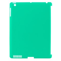 Neon Color   Vivid Turquoise Apple Ipad 3/4 Hardshell Case (compatible With Smart Cover) by tarastyle