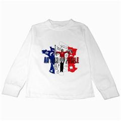 Marine Le Pen Kids Long Sleeve T Shirts by Valentinaart