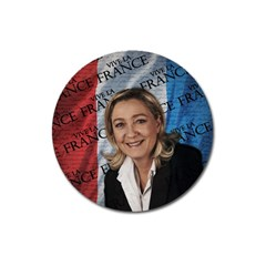 Marine Le Pen Magnet 3  (round) by Valentinaart