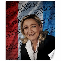 Marine Le Pen Canvas 20  X 24   by Valentinaart