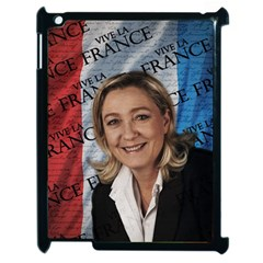 Marine Le Pen Apple Ipad 2 Case (black) by Valentinaart