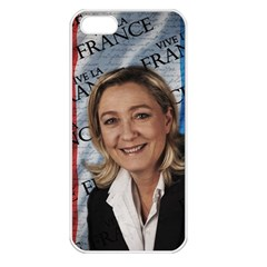 Marine Le Pen Apple Iphone 5 Seamless Case (white) by Valentinaart