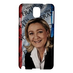 Marine Le Pen Samsung Galaxy Note 3 N9005 Hardshell Case by Valentinaart