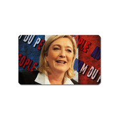 Marine Le Pen Magnet (name Card) by Valentinaart