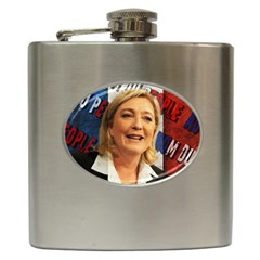 Marine Le Pen Hip Flask (6 Oz) by Valentinaart