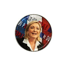 Marine Le Pen Hat Clip Ball Marker by Valentinaart