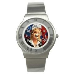 Marine Le Pen Stainless Steel Watch by Valentinaart