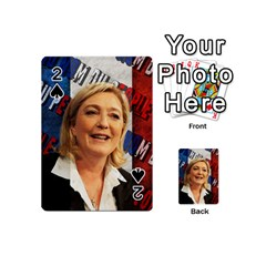 Marine Le Pen Playing Cards 54 (mini)  by Valentinaart
