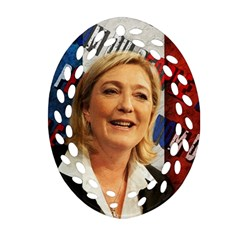 Marine Le Pen Ornament (oval Filigree) by Valentinaart