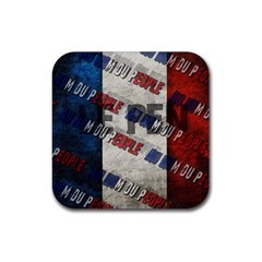 Marine Le Pen Rubber Square Coaster (4 Pack)  by Valentinaart