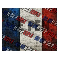 Marine Le Pen Rectangular Jigsaw Puzzl by Valentinaart