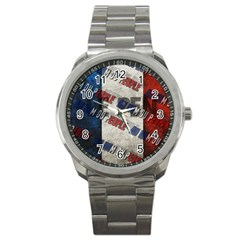 Marine Le Pen Sport Metal Watch by Valentinaart