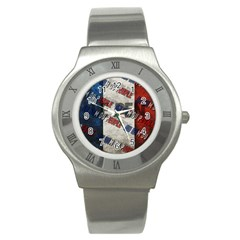 Marine Le Pen Stainless Steel Watch by Valentinaart