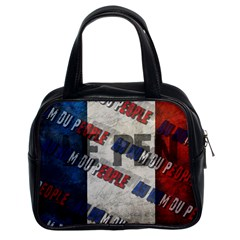 Marine Le Pen Classic Handbags (2 Sides) by Valentinaart