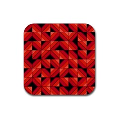 Fake Wood Pattern Rubber Square Coaster (4 Pack)  by linceazul