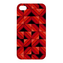 Fake Wood Pattern Apple Iphone 4/4s Premium Hardshell Case by linceazul