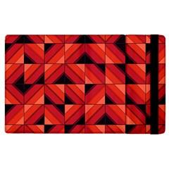 Fake Wood Pattern Apple Ipad 2 Flip Case by linceazul