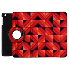 Fake Wood Pattern Apple Ipad Mini Flip 360 Case by linceazul