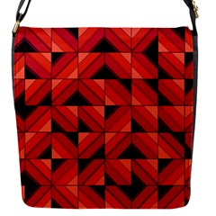 Fake Wood Pattern Flap Messenger Bag (s) by linceazul