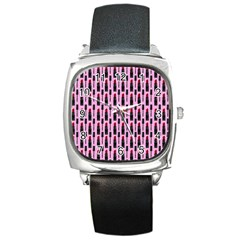 Makeup Square Metal Watch by Valentinaart