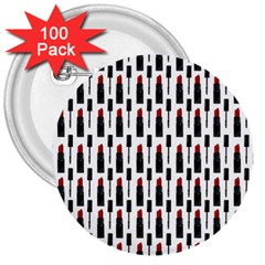 Makeup 3  Buttons (100 Pack)  by Valentinaart