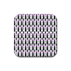 Makeup Rubber Coaster (square)  by Valentinaart