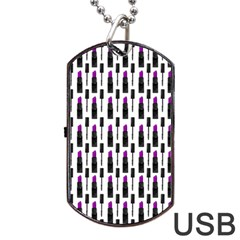 Makeup Dog Tag Usb Flash (one Side) by Valentinaart