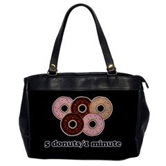 Five Donuts In One Minute  Office Handbags by Valentinaart