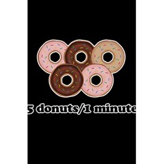Five Donuts In One Minute  5 5  X 8 5  Notebooks by Valentinaart