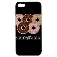 Five Donuts In One Minute  Apple Iphone 5 Hardshell Case by Valentinaart