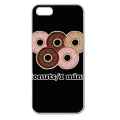 Five Donuts In One Minute  Apple Seamless Iphone 5 Case (clear) by Valentinaart