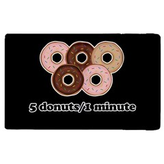 Five Donuts In One Minute  Apple Ipad 2 Flip Case by Valentinaart