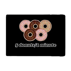 Five Donuts In One Minute  Apple Ipad Mini Flip Case by Valentinaart