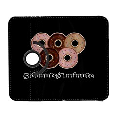Five Donuts In One Minute  Galaxy S3 (flip/folio) by Valentinaart