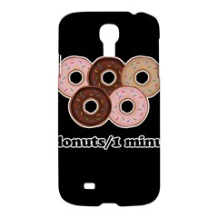 Five Donuts In One Minute  Samsung Galaxy S4 I9500/i9505 Hardshell Case by Valentinaart