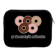 Five Donuts In One Minute  Apple Ipad 2/3/4 Zipper Cases by Valentinaart