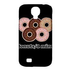 Five Donuts In One Minute  Samsung Galaxy S4 Classic Hardshell Case (pc+silicone) by Valentinaart