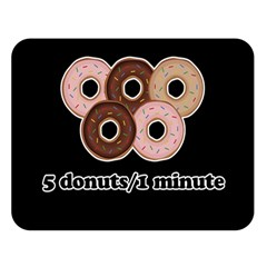 Five Donuts In One Minute  Double Sided Flano Blanket (large)  by Valentinaart