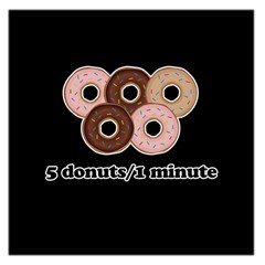 Five Donuts In One Minute  Large Satin Scarf (square) by Valentinaart