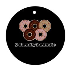 Five Donuts In One Minute  Ornament (round) by Valentinaart