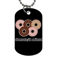 Five Donuts In One Minute  Dog Tag (two Sides) by Valentinaart