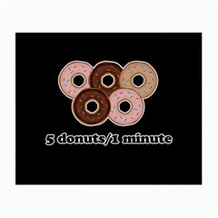 Five Donuts In One Minute  Small Glasses Cloth (2 Side) by Valentinaart