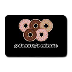 Five Donuts In One Minute  Plate Mats by Valentinaart